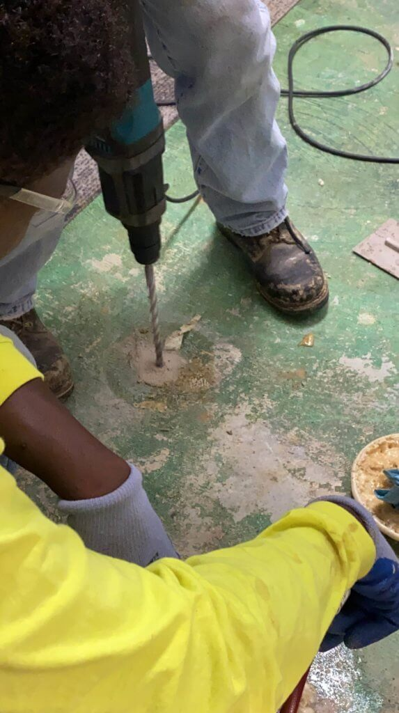 how to fill voids under concrete slabs with urethane grout
