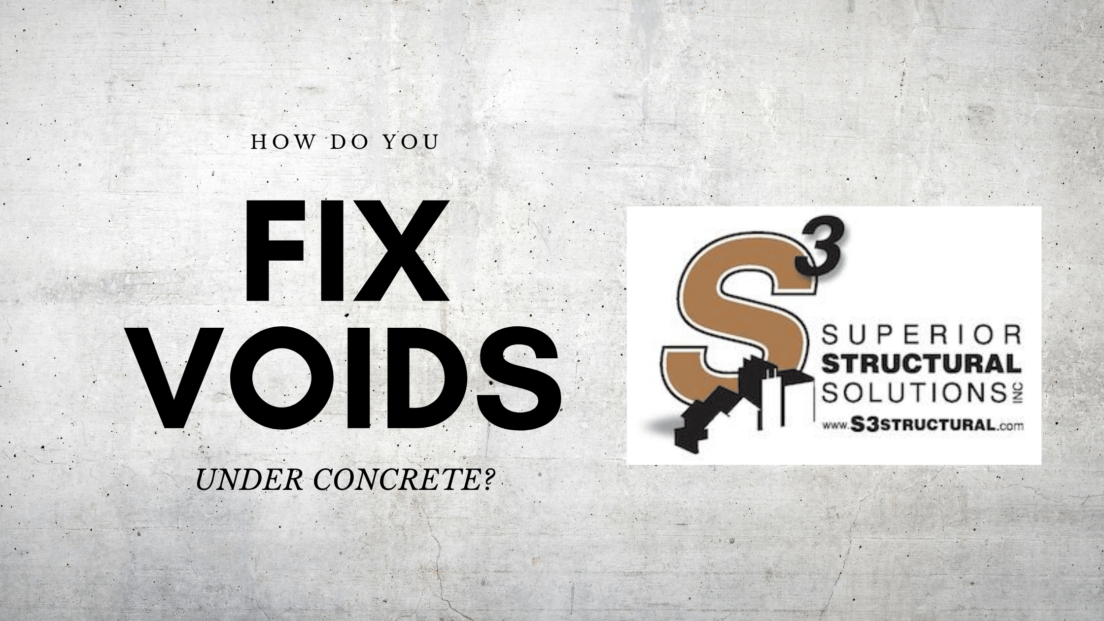How Do You Fill Voids Under Concrete Slabs?