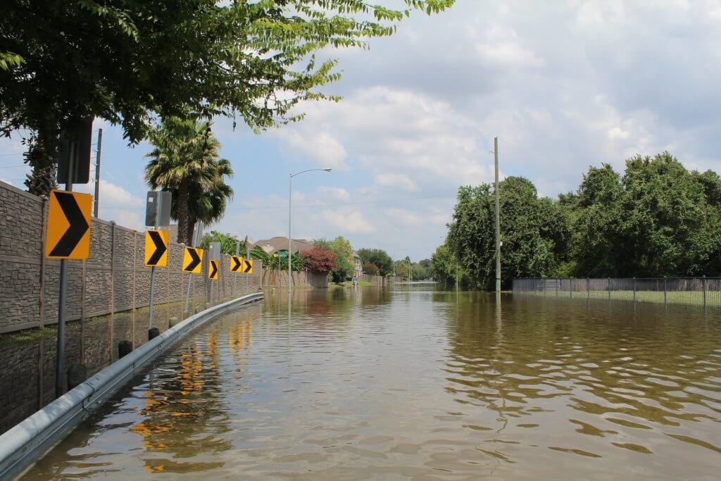 flooding in the streets